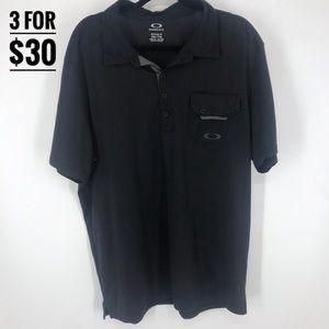 Oakley hydrolix polo t-shirt black size xxl